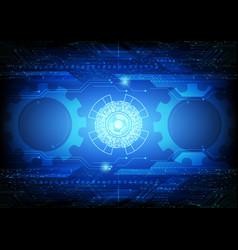 abstract gear digital technology and business vector image