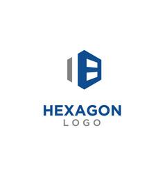 abstract hexagon cube garage warehouse logo design vector image