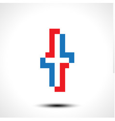 abstract icon based on letter t vector image
