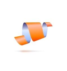 Abstract icon ribbon sign vector image