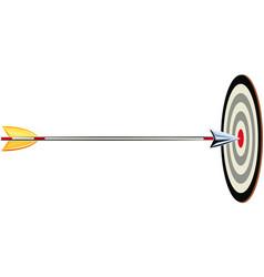 arrow shot it hits a target vector image