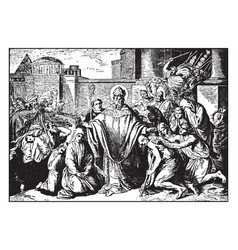 Athanasius is banished from alexandria vintage vector