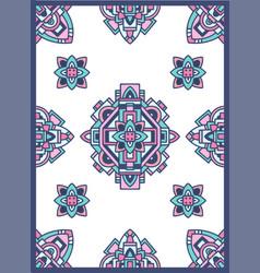 Aztec navajo indian carpet pattern grunge vector