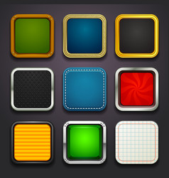 background for app icons-part 2 vector image