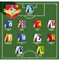 Best Team Soccer of Football vector