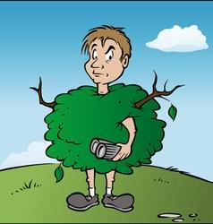 birdwatcher bush vector image