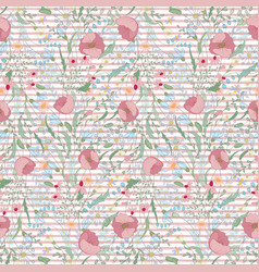 bright background with strips and flowers vector image