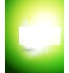 Bright color shiny speech bubble template vector image