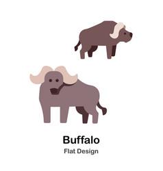 Buffalo flat icon vector