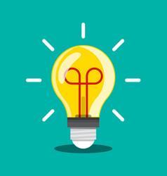 bulb icon idea or inspiration symbol light vector image