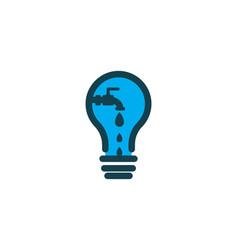 bulb water drop plumbing logo designs inspiration vector image