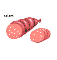 cartoon salami vector image