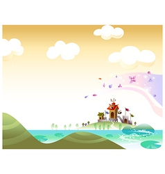 Castle Landscape Background vector