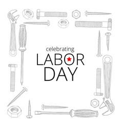 Celebrating labor day september 4 2017 vector