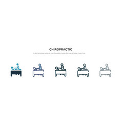 Chiropractic icon in different style two colored vector