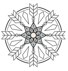 Circle arrow design tattoo image vector