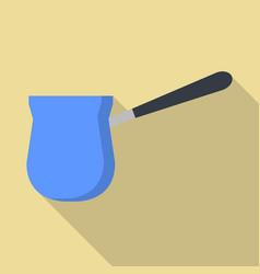 coffee saucepan icon flat style vector image