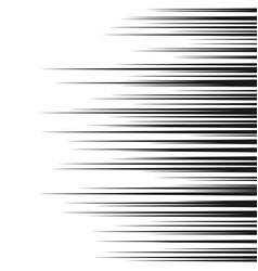 Comic horizontal speed lines background manga vector