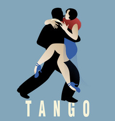 couple dancing argentinian tango vector image