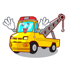 Crazy tow truck for vehicle branding character vector