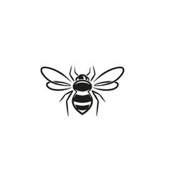 Creative bee lines logo vector