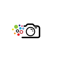 creative black abstract camera with colorful vector image
