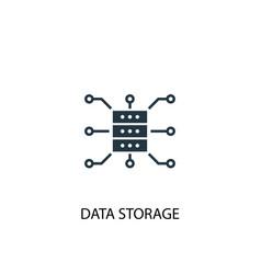 data storage icon simple element vector image