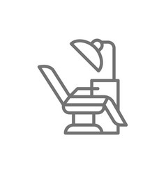 Dentist chair medical equipment line icon vector