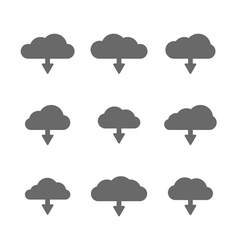 download cloud set vector image