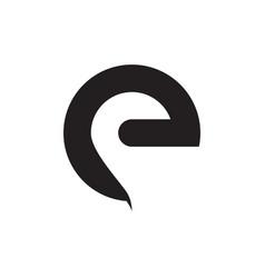 E lowercase simple letter logo design concept vector
