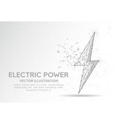 Electric power or lightning bolt digitally drawn vector