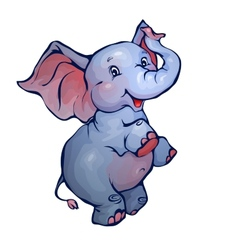 elephant in cartoon style vector image