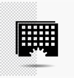 event management processing schedule timing glyph vector image