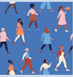 female diverse faces different ethnicity vector image