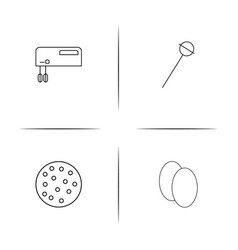 food and drink linear simple icon setoutline icons vector image