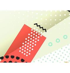 Geometric symbols background vector image