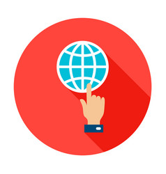 Global connection circle icon vector