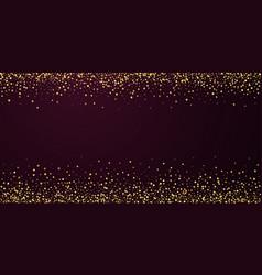 Gold confetti luxury sparkling confetti scattered vector