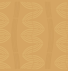 golden wavy striped seamless pattern vector image