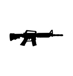 gun silhouette black color vector image