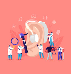Hearing loss deafness deaf people with hear vector