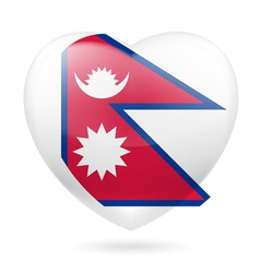 Heart icon of Nepal vector