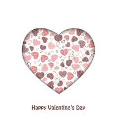 heart of hearts on a white background vector image