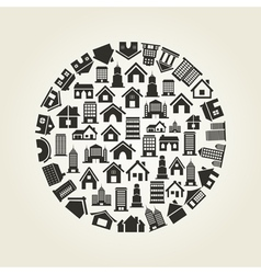 House a circle vector image