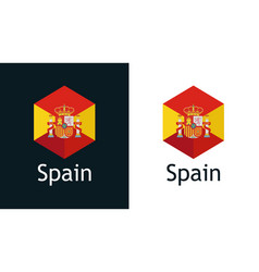 icon spanish flag on black and white vector image