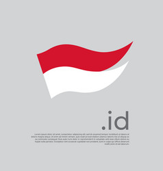 Indonesia flag colored stripes indonesian flag vector