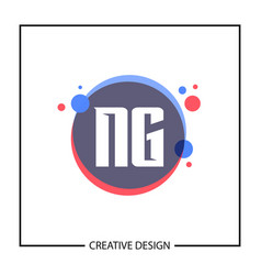 initial letter ng logo template design vector image