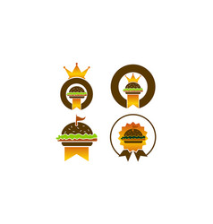king burger template set vector image