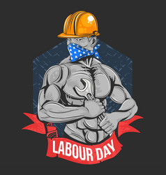 labour day worker vector image
