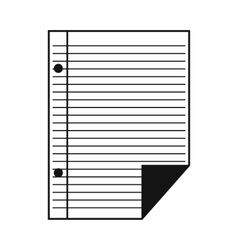 Lined paper notebook simple icon vector